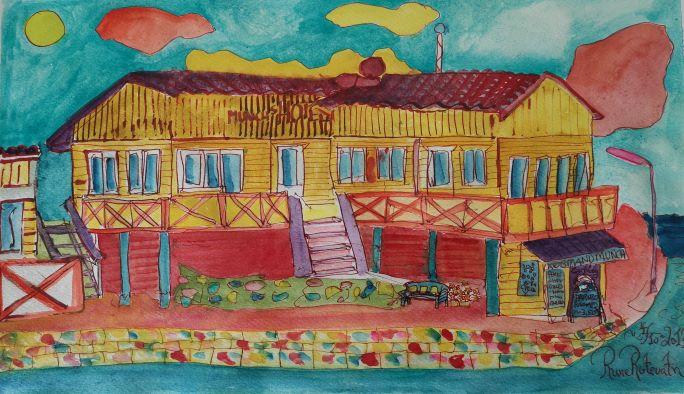 Tegning af hotellet